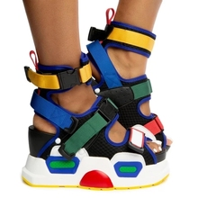 SWONCO Colorfull Wedges Sandals Shoes Women 2020 New Female