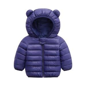 Image 5 - Spring fall Light children winter jackets Kids cotton Down Coat Baby jacket for girls parka Outerwear Hoodies Boy Coat
