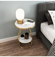 Luxury Marble+Solid Iron Coffee Table Nordic Simple Side Table Conner Bedside Lamp Table No lacquer гостиный стол