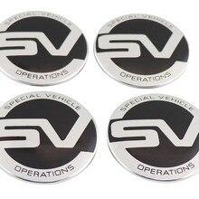 4pcs 63MM Black SV for 98-16 LR2 LR3 LR4 Wheel Cover Hub Center Caps emblem Bedge