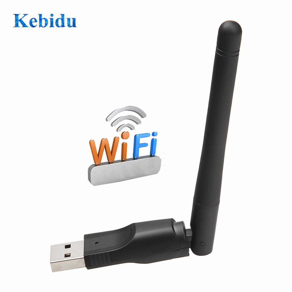 Kebidu New 150M USB 2.0 WiFi Wireless Network Card 802.11 B/g/n LAN Antenna Adapter With Antenna For Laptop PC Mini Wi-fi Dongle