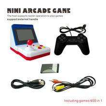 Ретро Мини Аркада FC Красный Белый ручной SUP рокер игровая консоль встроенный 600 игр Q84A