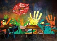 Настенные 3d обои в европейском стиле с граффити для детской