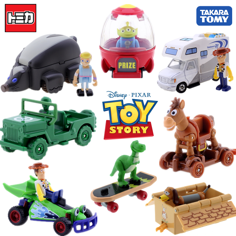 Takara Tomy Tomica Ride On  Toy Story 4 Woody Recreational Vehicle Model