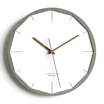 12 inch Modern Creative 3D Wooden Rustic Home Decorative Watch White Interior Wall Clock European Style