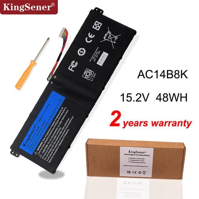 KingSener batterie AC14B8K pour Acer Aspire CB3 111, CB5 311, ES1 511, ES1 512, ES1 520, S1 521, ES1 531ES1 731, E5 771G, V3 371, V3 111