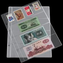 10Pcs Thread Sewing 4 Pockets Banknote Transparent Currency loose leaf Album Pages Paper Money Storage Holder 10pcs pvc money banknote paper money album page collection holder sleeves 3 slot loose leaf sheet portable protection album