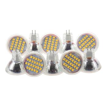 цена на 10pcs MR11 GU4 Warm White 3528 SMD 24 LED Home Spotlight Light Lamp Bulb 1W 12V