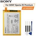 Оригинальный аккумулятор SONY для SONY Xperia Z5 Premium Z5P Dual E6853 E6883 LIS1605ERPC 3430mAh подлинный Сменный аккумулятор для телефона