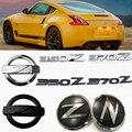 3D, АБС-пластик, автомобильный Z Логотип сбоку эмблема значок Стикеры сзади наклейки на багажник для Nissan 350Z 370Z Fairlady Z Z3 Z34 Авто Средства для укл...