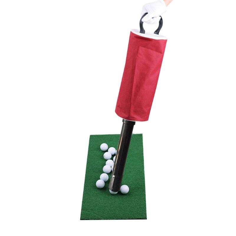 Golf Ball Picker Shag Bag Putter Holder Storage Retriever Portable Ball Catcher Collector