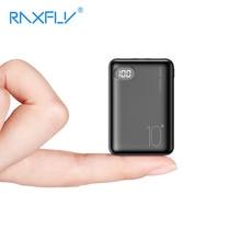 RAXFLY Mini batería portátil de 10000 mAh para móvil, Powerbank LED de 10000 mAh para Xiaomi