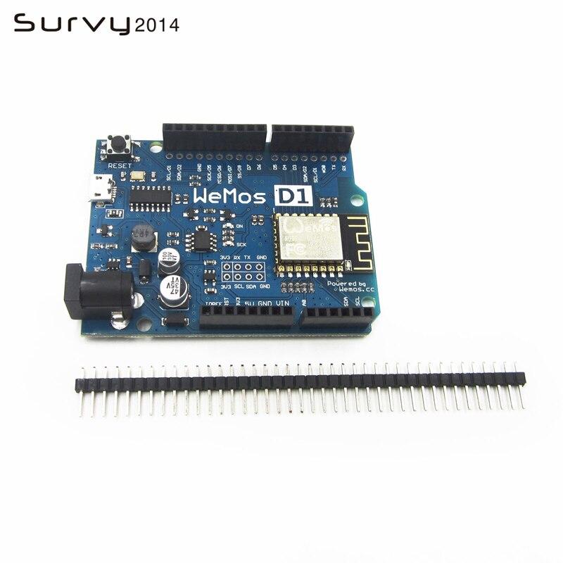 Бесплатная доставка, умная электроника Φ WeMos D1 WiFi uno на базе ESP8266, экран для arduino ESP-12F, сделай сам, электроника