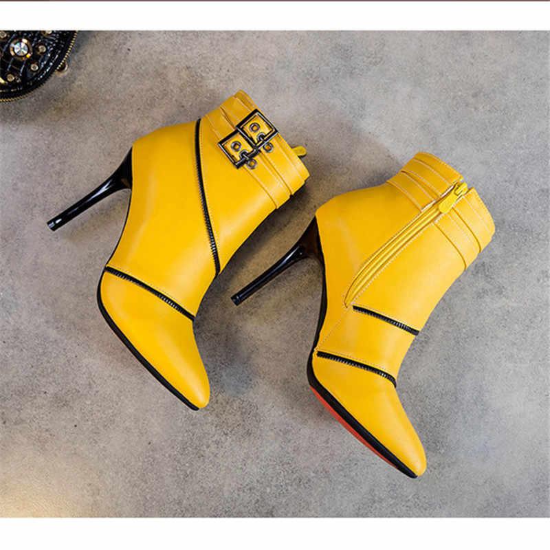 Vrouwen Winter Schoenen 2019 Vrouwen Enkellaars Casual Vintage Laarzen Mode Avondmaal Hoge Hakken Laars