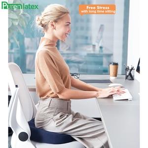 Image 2 - Purenlatex Bamboo Charcoal Memory Foam Orthopedic Pillow Office Chair Cushion Car Seat Adult Student Hemorrhoid Vertebra Treat