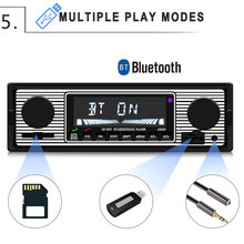 Bluetooth Radio MP3 Music Player USB AUX Car Stereo Audio FM LCD Display Screen M8617(China)