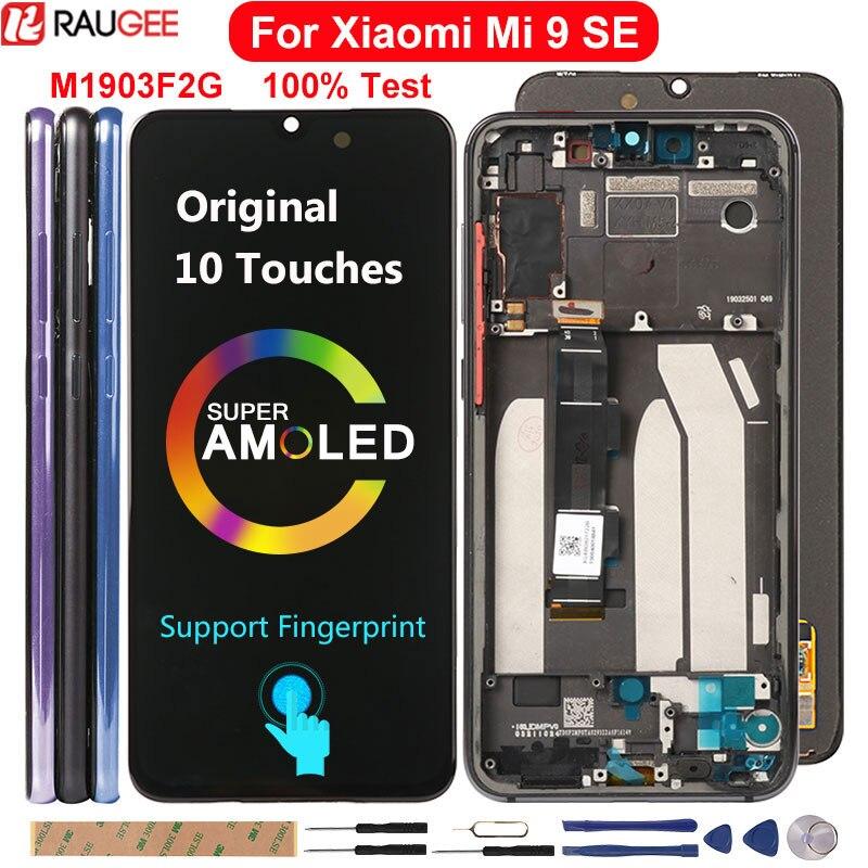 ЖК-дисплей Amoled для Xiaomi Mi 9 SE, сменный сенсорный экран с 10 отпечатками пальцев для Xiaomi Mi9 SE, Mi 9SE, M1903F2G, ЖК-дисплей