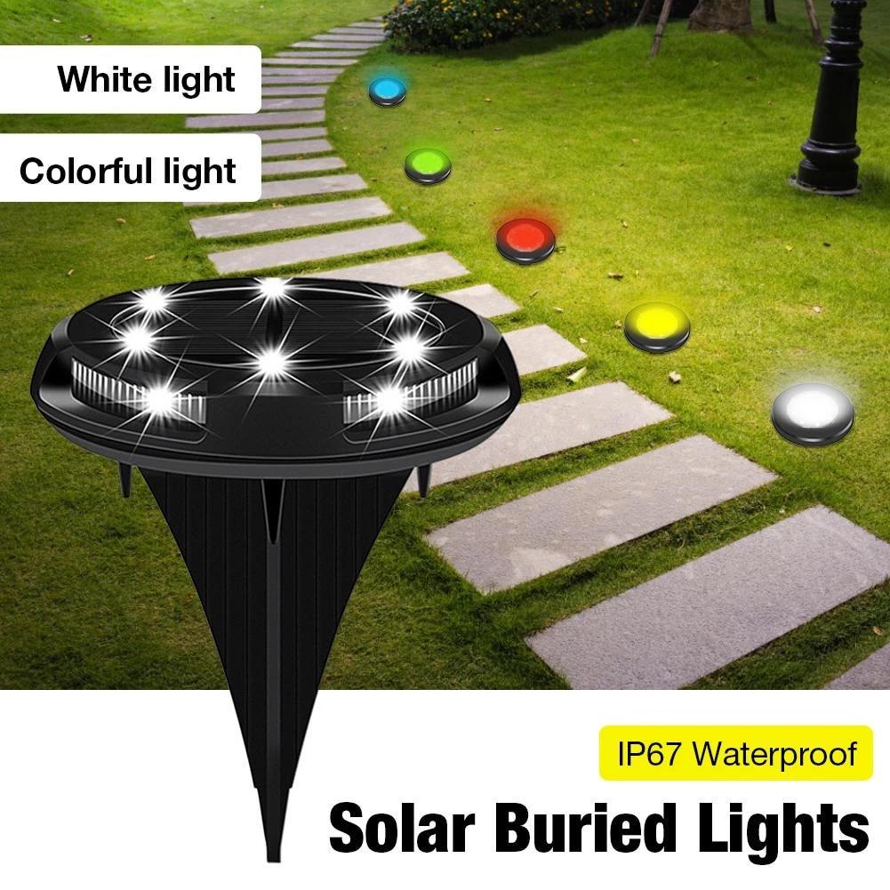 Solar Dimakamkan Cahaya Putih Colorful Tahan Air Luar Ruangan Taman Lampu Taman Tangga Rumput Dekorasi Lampu Taman Halaman Lampu Rumput Lampu Aliexpress