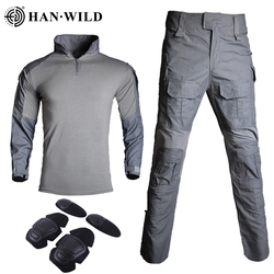 Military Uniform Clothes G3 Suit Tactical Camouflage  Men US Army Clothes Airsoft Military Combat Shirt + Cargo Pants Knee Pads