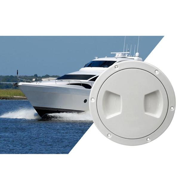 5 inch Non Slip Deck Plate Corrosion Resistant Marine Access Boat Inspection Hatch Cover Plate for Marine Boating Water Sport