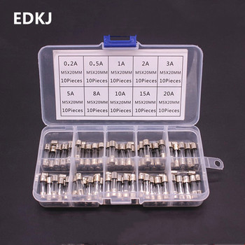 100PCS FUSE 5*20 5X20 5MM * 20MM Glass insurance tube safety  5X20MM
