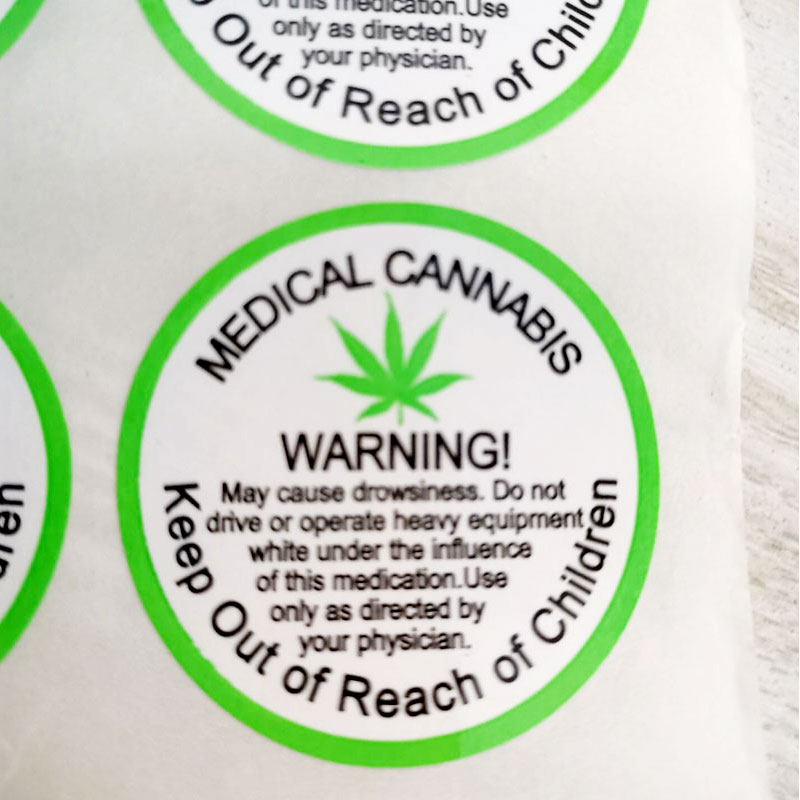 Image 4 - 2020 New Trend 1.5 inch 500 PCs/roll Warning Stickers Adhesive Labels medical Warning Label  for Warning and IndicationWallpapers   -