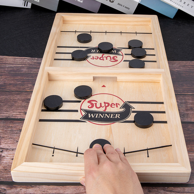 Table Fast Hockey Sling Puck Game Paced Sling Puck Winner Fun Toys Party Game Toys For
