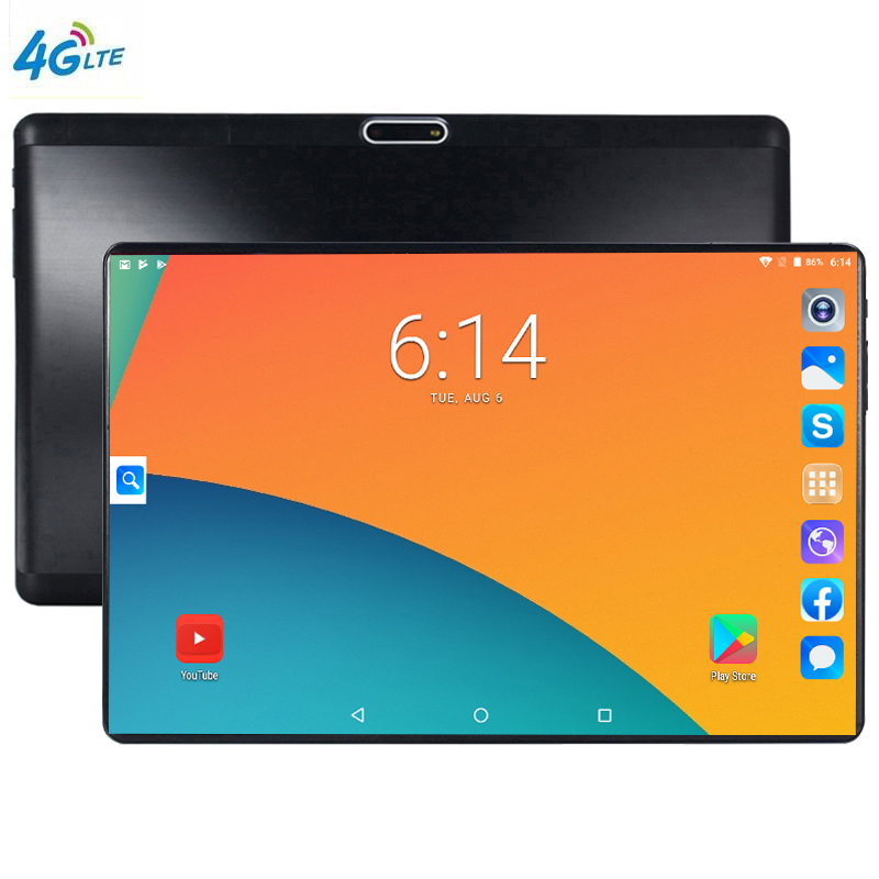 S119 IPS Tablettle Pocket PC 2.5D Glasses Tempered Phone Tablets 10.1 Inch Android 9.0 1280 800 64GB ROM Tablet PC 6GB Ram 5MP
