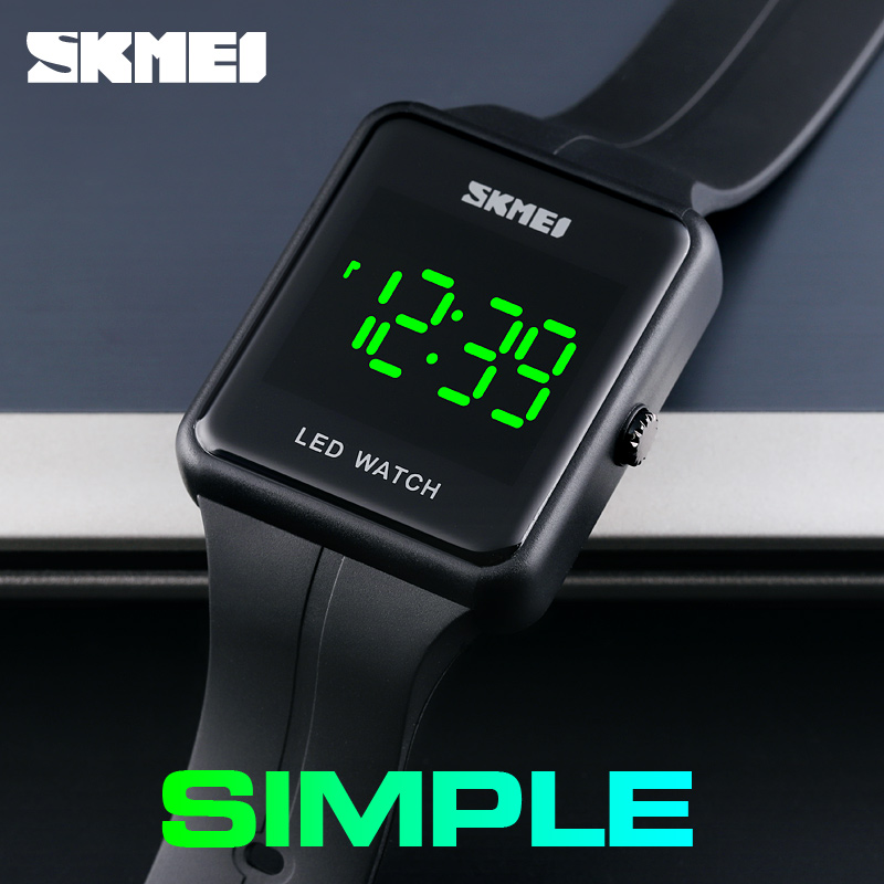 SKMEI Men Sports Watches Fashion Digital Watch Chronos Countdown Men's Waterproof LED Light Man Military Clock Relogio Masculino