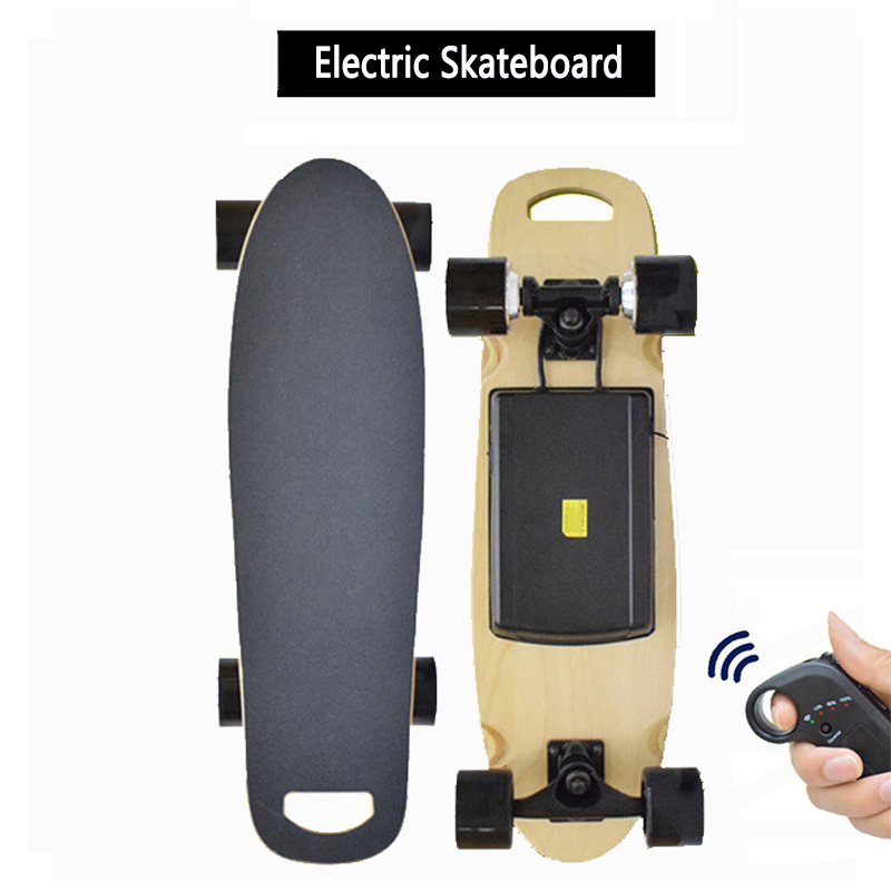 Electric Skateboard 27 Inch Longboard With Wireless Remote Controller 300W Motor Four Wheel Skate Board For Adult Dropshippng