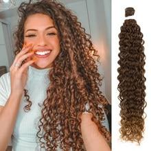 Amo-me pacotes de cabelo ondulação cachos de cabelo loiro pacotes 32 Polegada onda profunda pacotes macios super longo cabelo sintético bio cabelo encaracolado
