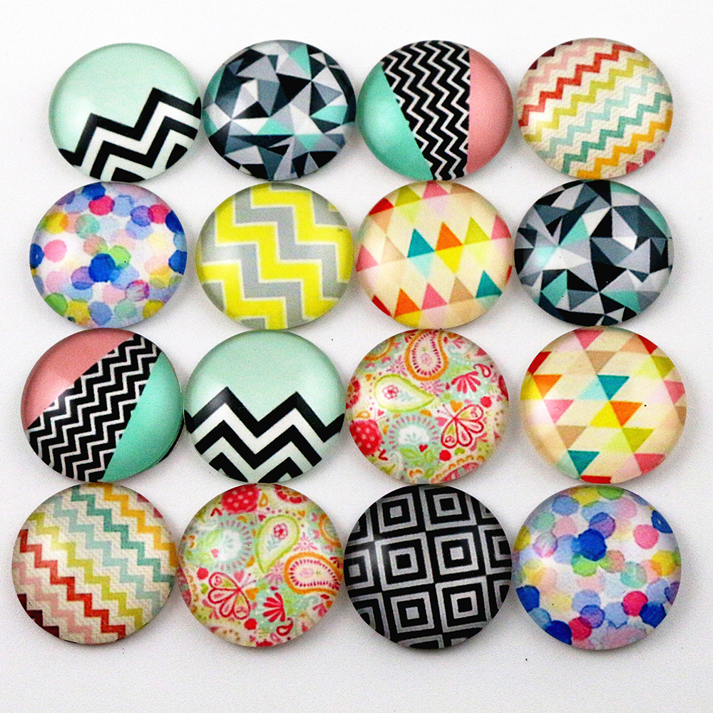 Hot Sale 10pcs 20mm Mixed Handmade Photo Glass Cabochons (D7-37)