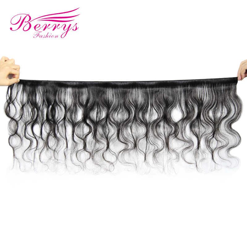 Paquetes de pelo virgen sin procesar de la onda del cuerpo peruano de la manera de Berrys 3 PCS/unids/lote extensiones de cabello humano 100% Color Natural 10-28 pulgadas