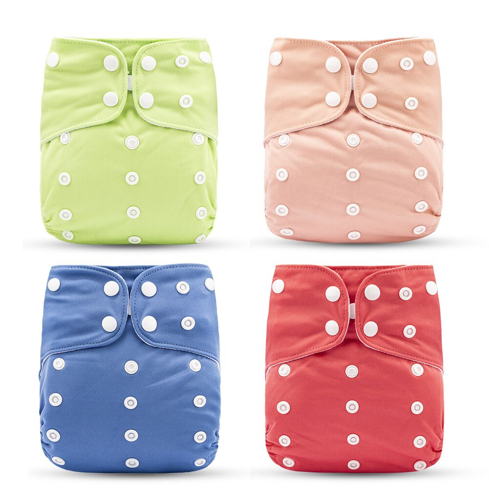 Happy Flute One Size Pocket Cloth Diaper Suede Cloth Inner With 1pcs Insert Resuable Waterproof Baby Diaper