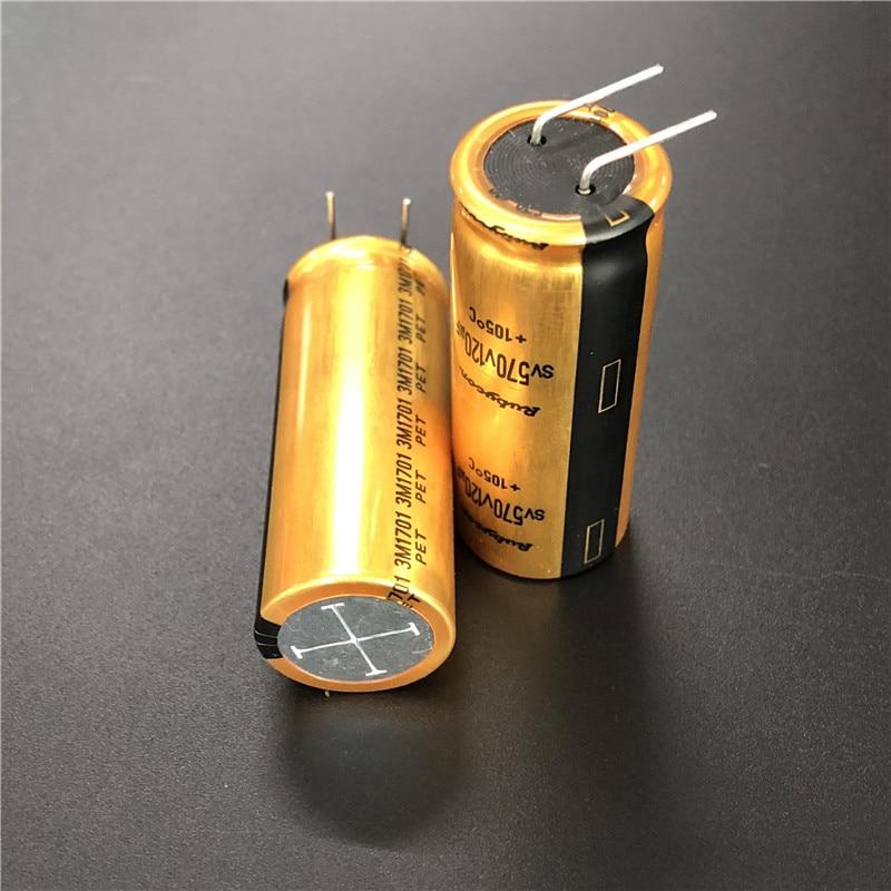 2pcs/10pcs SV570V 120uF 570V Rubycon SV 18x45mm 570V120uF Top Grade HiFi Gold Filter Aluminum Electrolytic Capacitor
