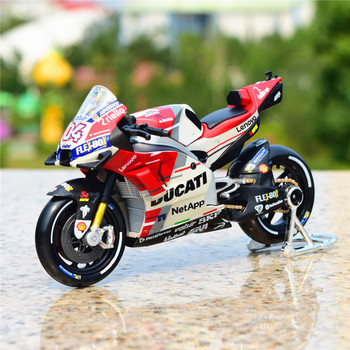 Maisto 1:18 2018 GP Racing Desmosedici RR Factory Racing Team 04# Diecast Alloy Motorcycle Model Toy maisto new 1 10ducati desmosedici alloy diecast motorcycle model workable shork absorber toy for children gifts toy collection