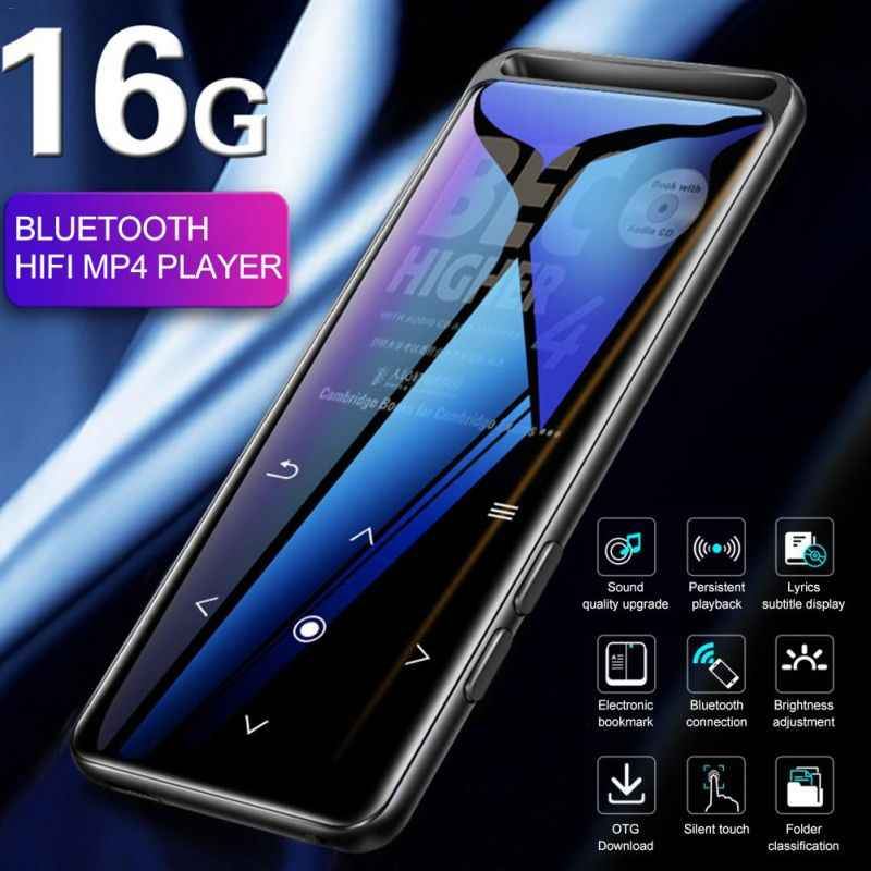 High Quality Bluetooth 5.0 Lossless MP4 Player HiFi Portable Audio Player With FM Radio E-Book Voice Recorder MP4 Music Player