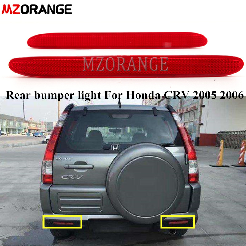 MZORANGE Tail Bumper Reflector Brake Lamp For Honda CRV 2005 2006 For <font><b>Acura</b></font> <font><b>TSX</b></font> Euro ACCORD CL7 CL9 2004-2008 Element Fog Light image
