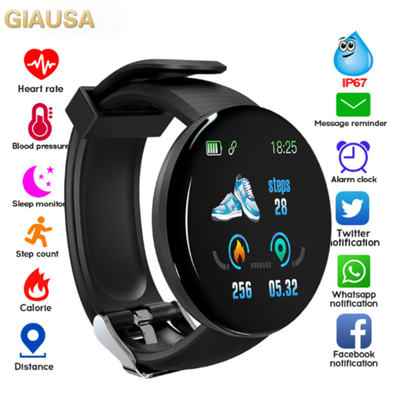 Smart Watches Waterproof Sports For Iphone Phone Smartwatch Heart Rate Monitor Blood Pressure Functions For Women Men Kid