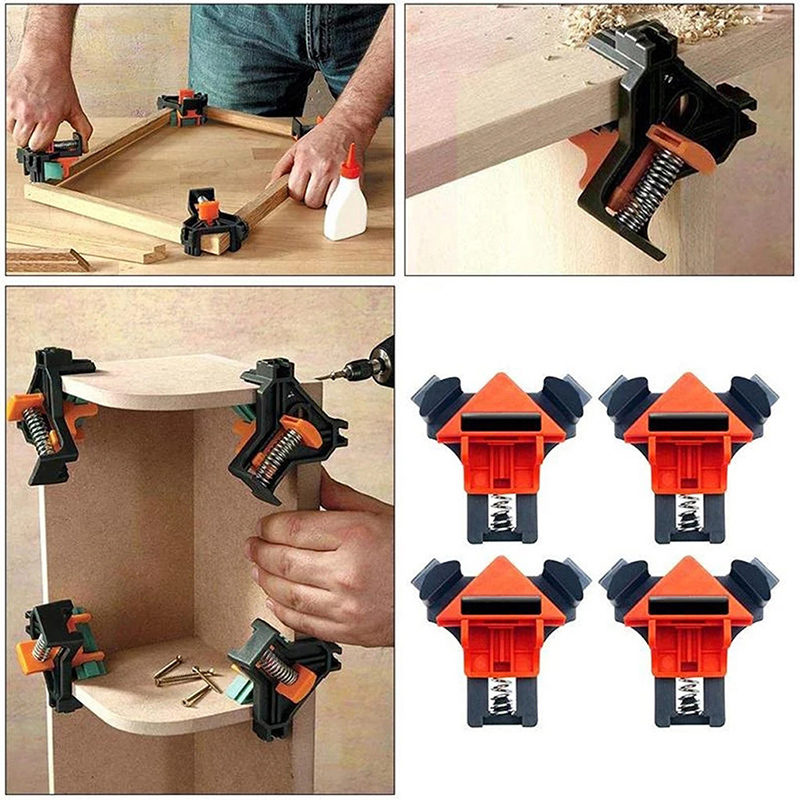 90 Degree Right Angle Clip Picture Frame Corner Clamp Mitre Corner Holder Clamps For Woodworking 4pcs