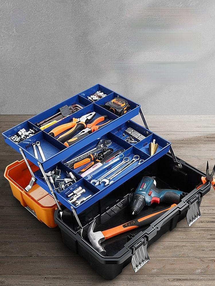 Organizer Tool Box Tools Case Craft Storage Box Organizer Tool Box Iron No Tool Caja De Herramientas Tools Packaging BD50TB
