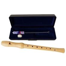 Wooden Recorder Soprano Baroque 8 Hole C Key Clarinet Vertical Flute Dizi Wood Musical Instruments