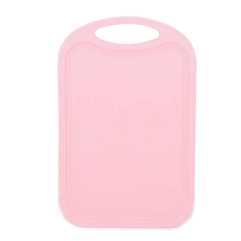 Plastic Chopping Block Meat Vegetable Cutting Board Non-Slip Anti Overflow With Hang Hole Chopping Board Pink