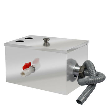 Stainless Steel Grease Trap Interceptor For Kitchen Wastewater 400x250x230mm UK