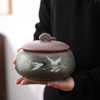 Contenedores para té Kiln horneado colorido hecho a mano Vintage gran y...