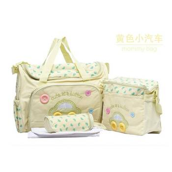 4PCS/Set High Quality Tote Baby Shoulder Diaper Bags Durable Nappy Bag Mummy Mother Baby Bag Brand New фото