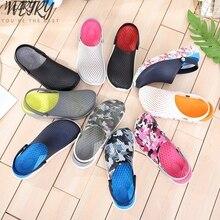 2020 Men Sandals Crocks LiteRide Hole Shoes Crok Rubber Clogs For Men EVA Unisex Garden Shoes Black