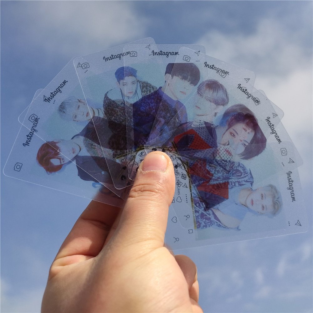 8pcs/set Kpop Ateez INS Transparent Card PVC Photocard Lomo Card For Fans Collection Postcard Photo Album Kpop ATEEZ Peripheral