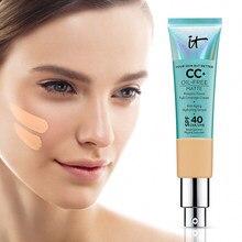 Crème correctrice contrôle de l'huile, Base de maquillage, couverture complète, fond de teint, peau foncée, éclairante, CC, primaire cosmétique