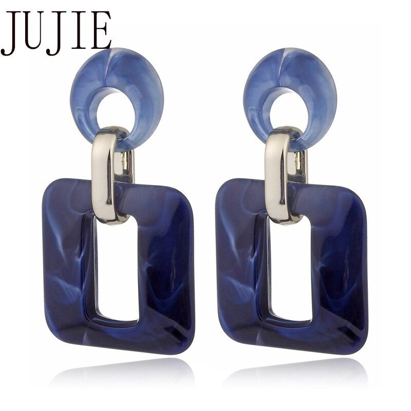 JUJIE Geometric Drop Earring For Women 2020 Acrylic Acetic Acid   Earrings Accessories Fashion Jewelry